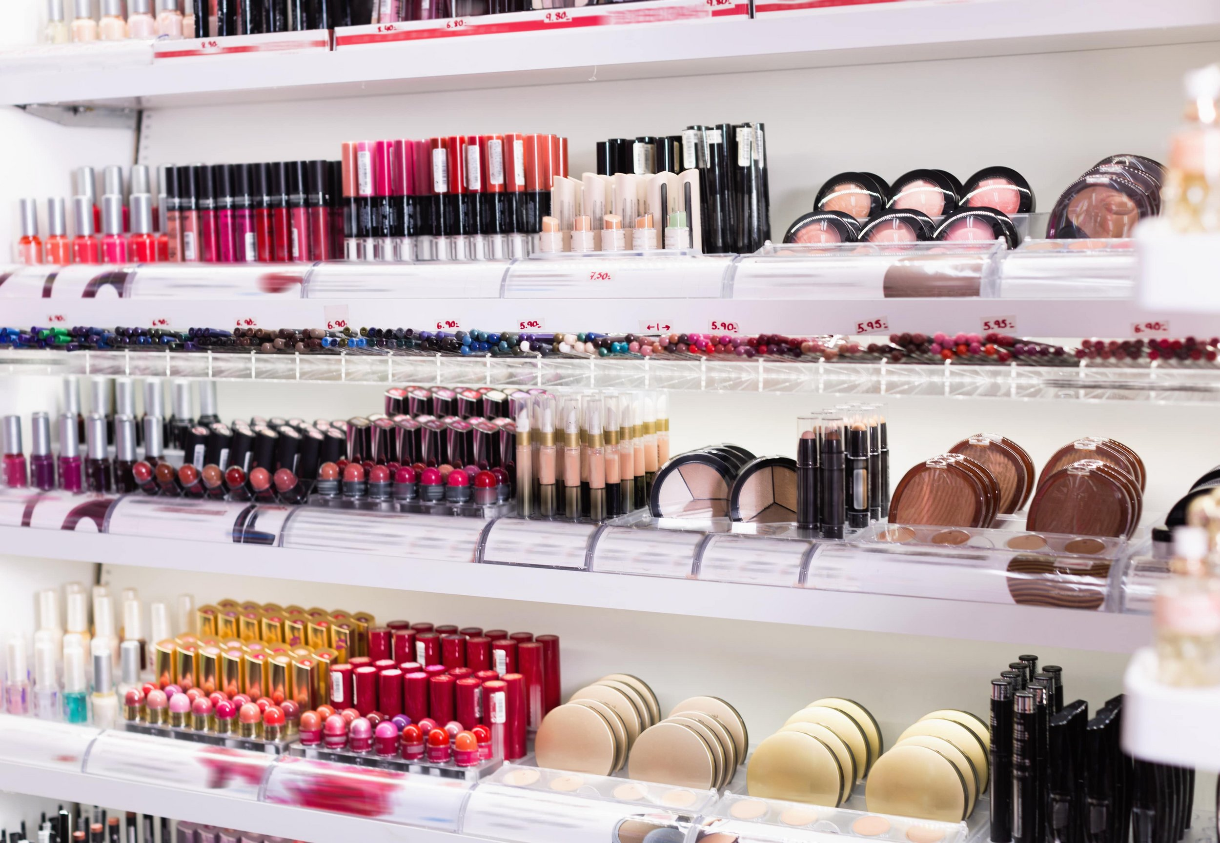 Wide range of cosmetic products