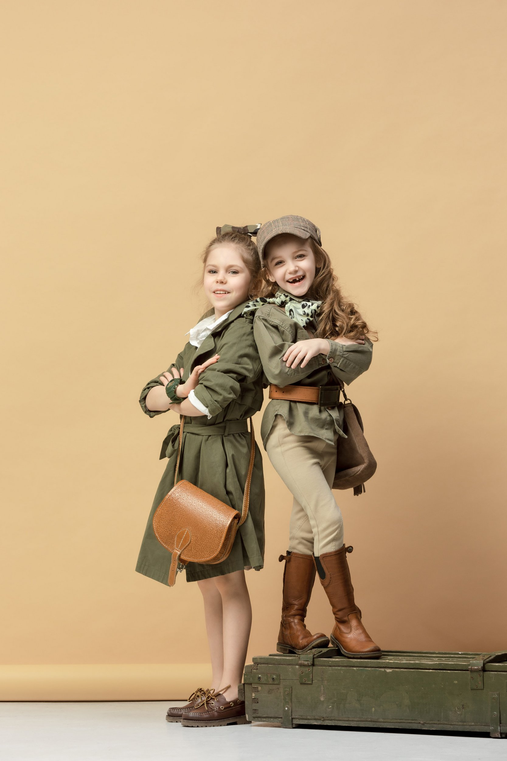 Stylish kids with spring collection